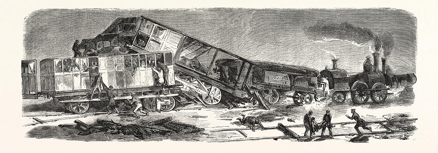 900x315 Accident Happened On The Versailles Railway Left Bank Drawing By