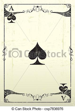 318x470 Ace Of Spades Grunge Background. An Ace Of Spades With A Clip