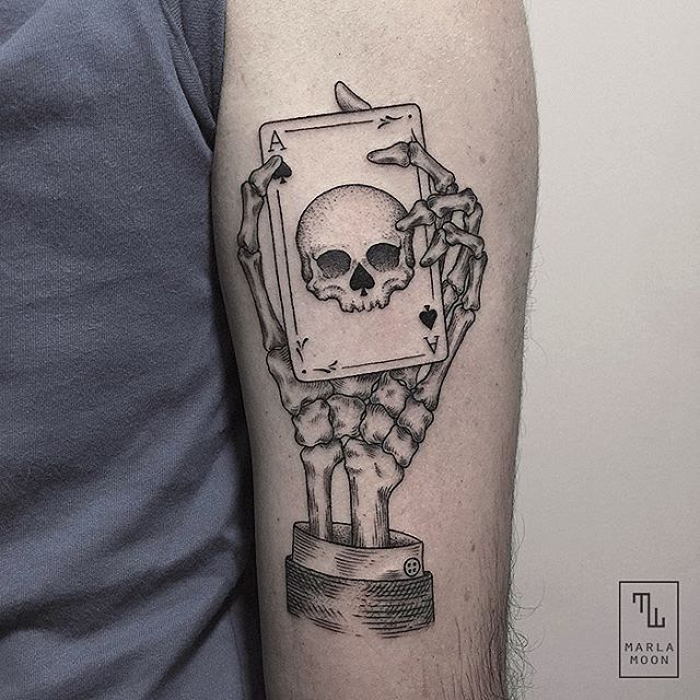 640x640 Designstack Ace Of Spades Skull. Geometric Shapes With Tattoo