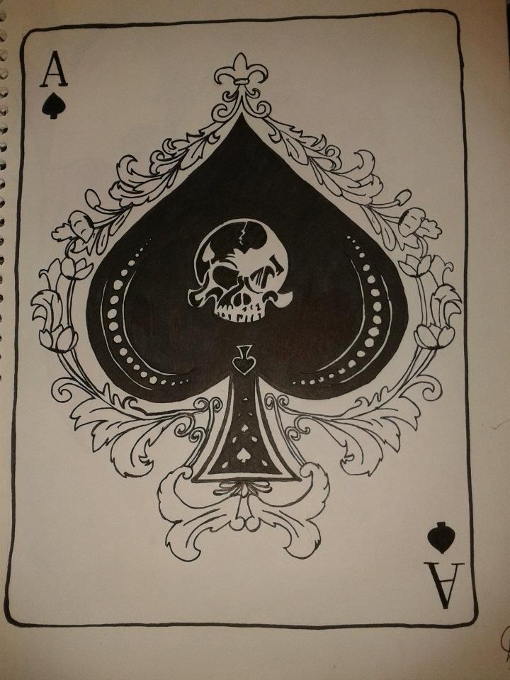 720x960 Hand Drawn, Always Loved The Ace Of Spades Creativity