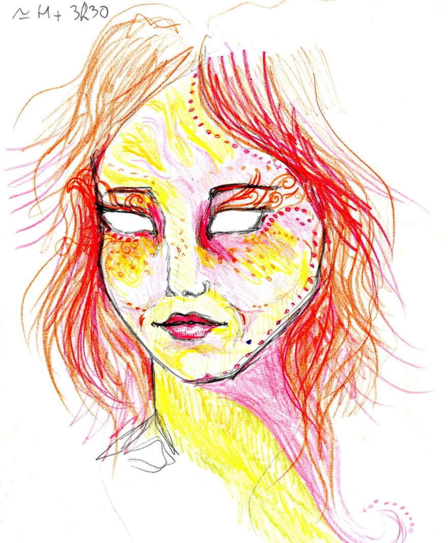 880x1066 Artist Used Lsd And Drew Herself For 9 Hours To Show How It