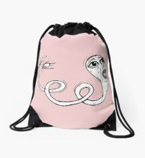 210x230 Acne Drawing Drawstring Bags Redbubble