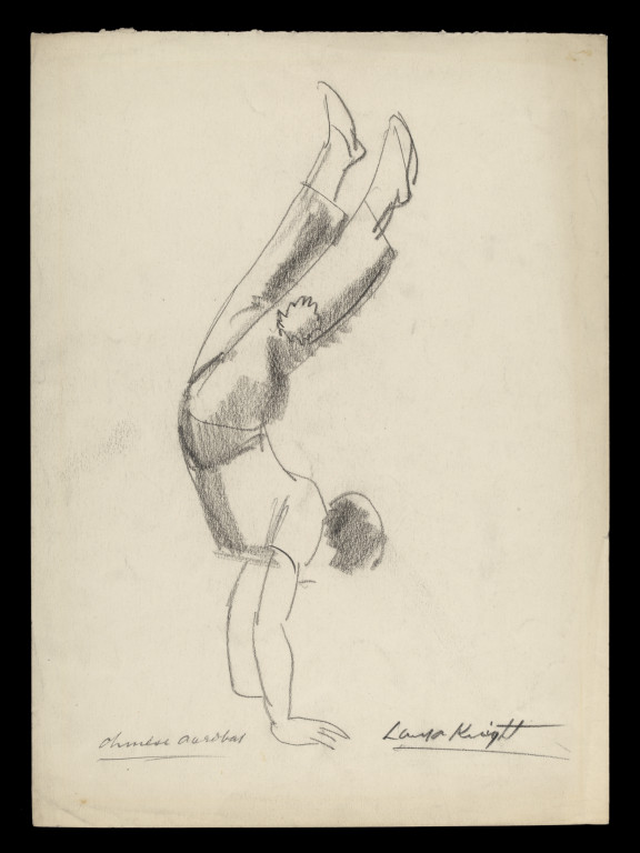 576x768 Laura Knight Sketch Of A Chinese Acrobat Knight, Laura Dame