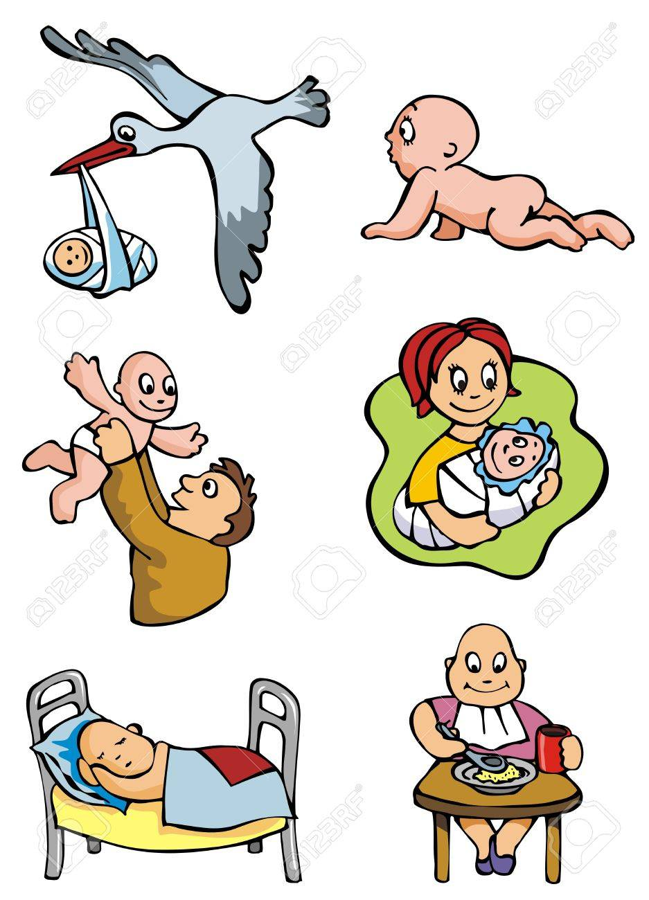 937x1300 Set Of Cartoon Drawing Of Children Babies Different Activities