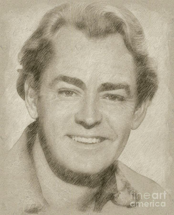 729x900 Alan Ladd Vintage Hollywood Actor Drawing By Frank Falcon