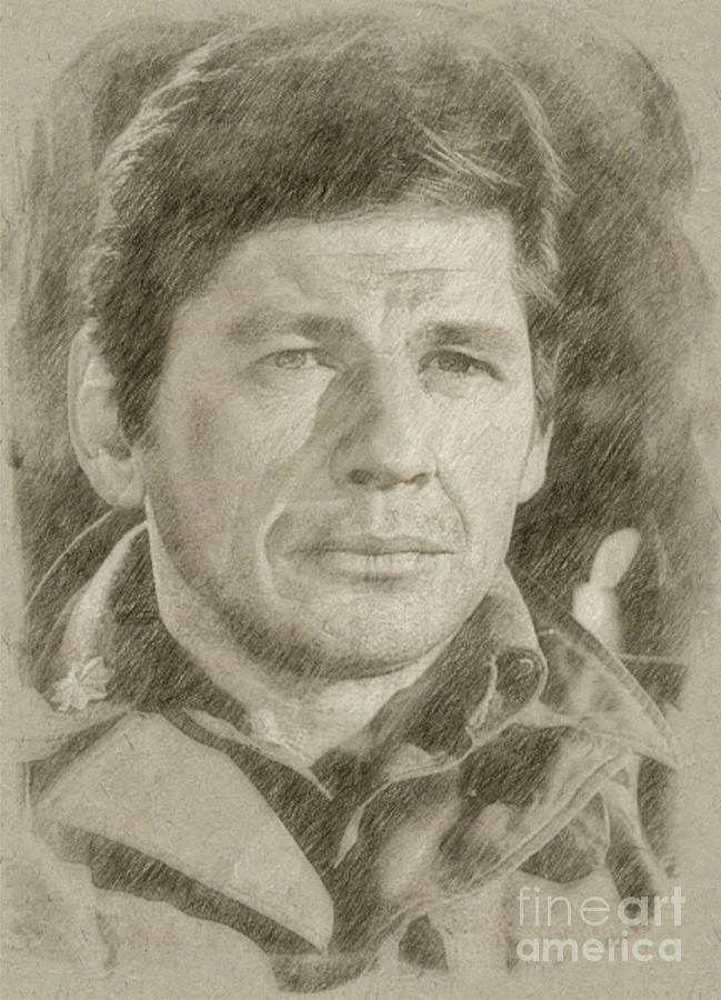 649x900 Charles Bronson, Actor Drawing By Frank Falcon