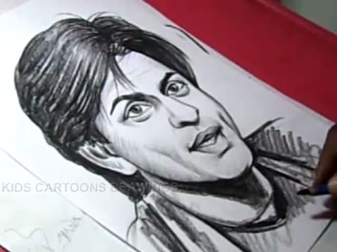 480x360 How To Draw Bollywood Actor Sharukh Khan Drawing