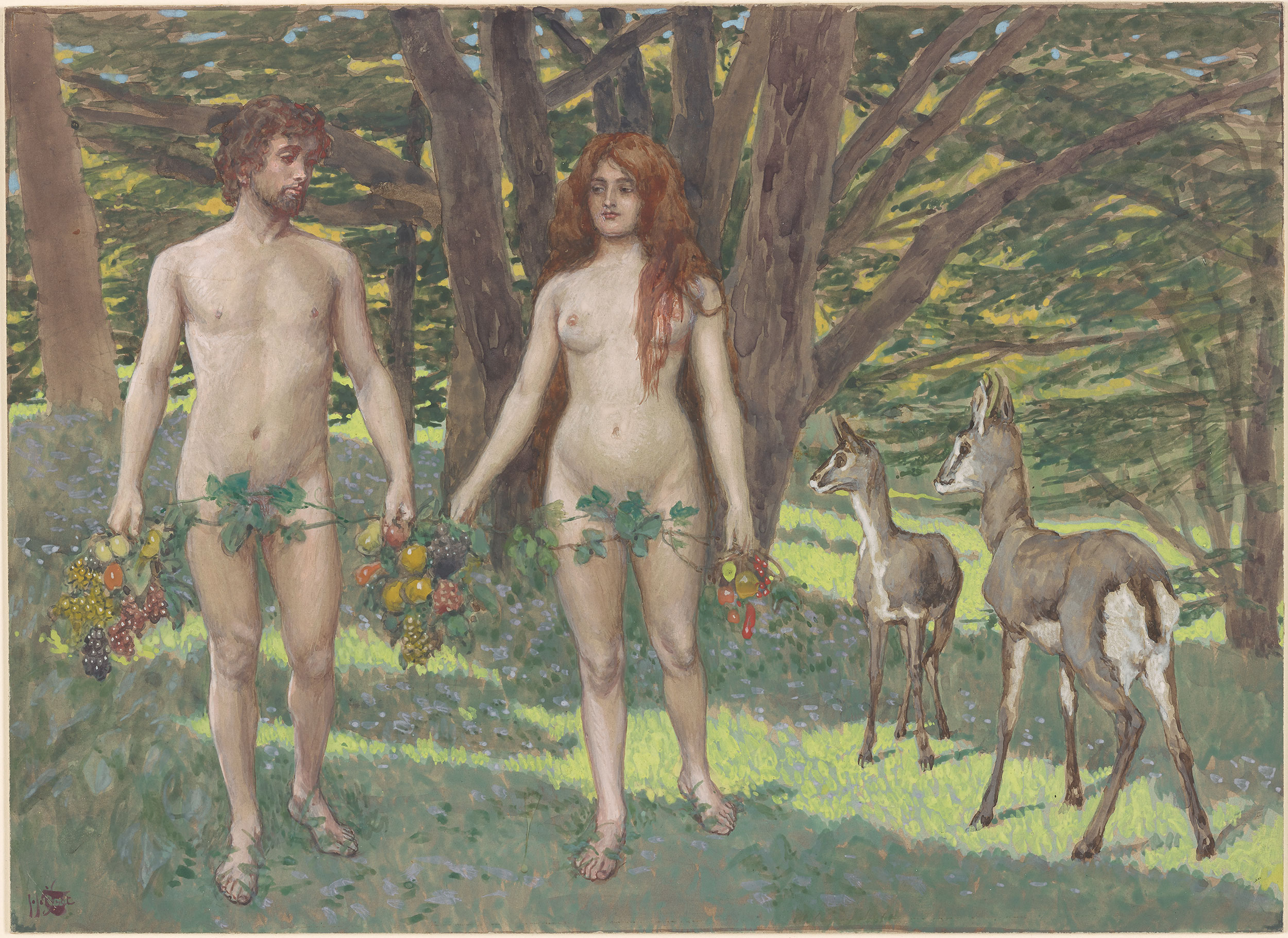 2500x1821 James Jacques Joseph Tissot Adam And Eve In The Garden Of Eden