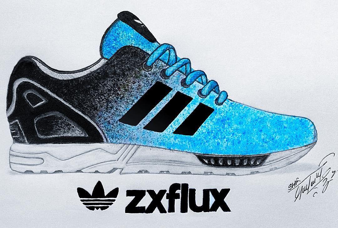 1080x729 Adidas Shoe Drawing