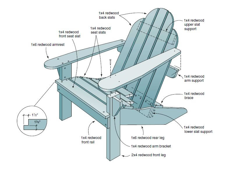 800x596 Free Adirondack Chair Plans. Download Your Free Plans Immediately