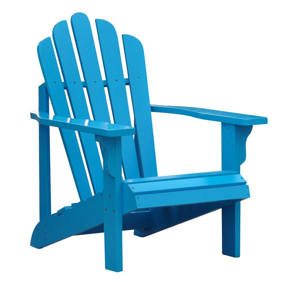 900x900 Shop Shine Company Westport Turquoise Cedar Patio Adirondack Chair