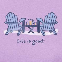 236x236 Life Is Good Adirondack Chair Drawing
