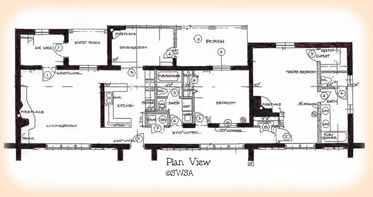 751x397 2 Bedroom Adobe House Plans