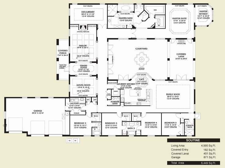 736x552 Adobe Style House Plans With Courtyard Lovely House Plans Adobe