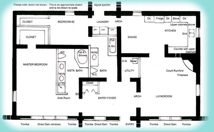 700x431 Solar Adobe House Plan 1576