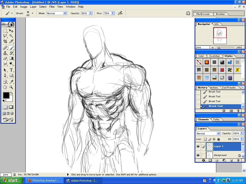 1024x768 Photoshop Drawing Practice 1 By Doomsmith