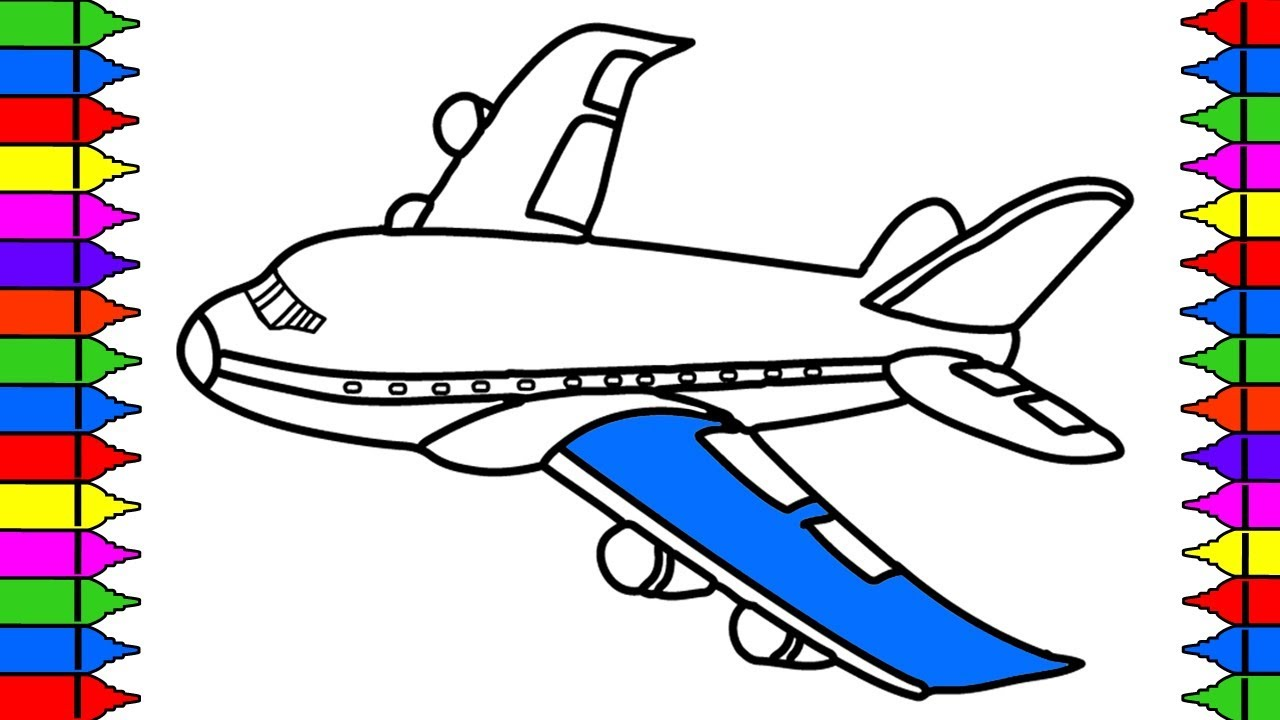 Aeroplane Drawing For Kids at GetDrawings | Free download