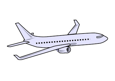 400x283 Printable Airplane Coloring Sheet