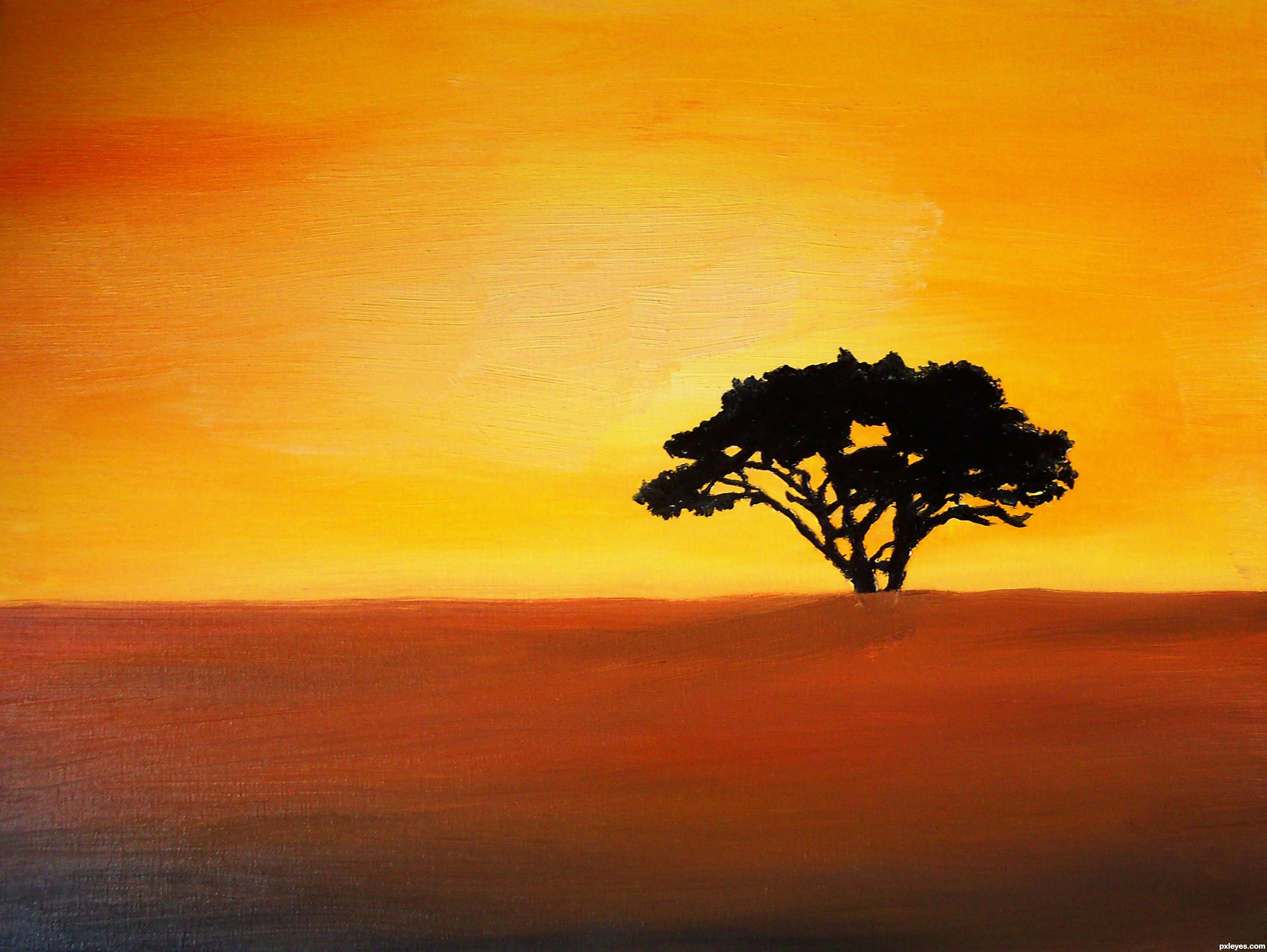 2976x2236 African Sunset Picture, By Toothpick134 For Africa Drawing