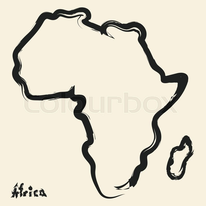 800x800 Doodle Drawing Africa Continent Stock Vector Colourbox