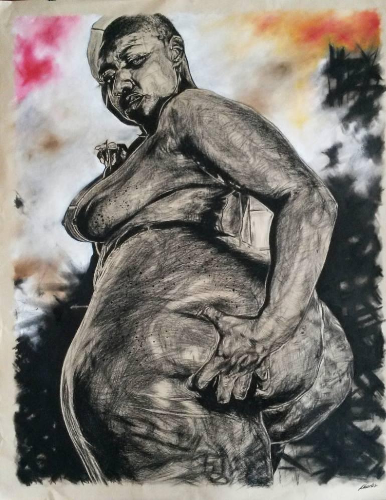 770x997 Saatchi Art African Woman Butt Drawing By Living Artist Emporium