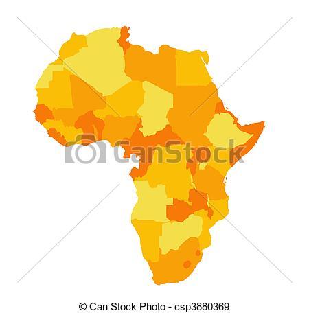 450x456 Africa Map Stock Illustration