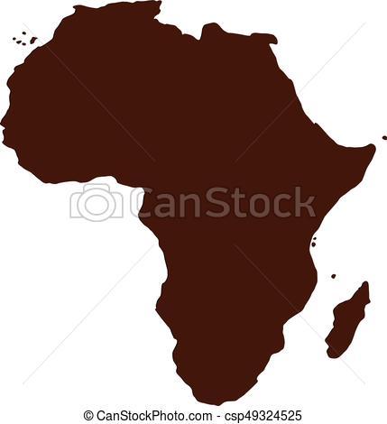 429x470 Africa Map Vector Illustration