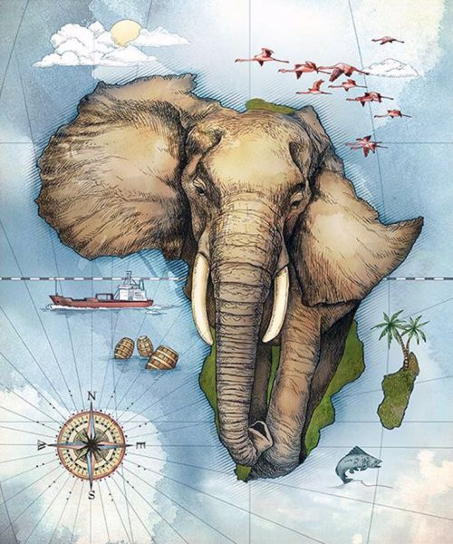 500x600 Map Of Africa By Studio Muti (South Africa) Working Together