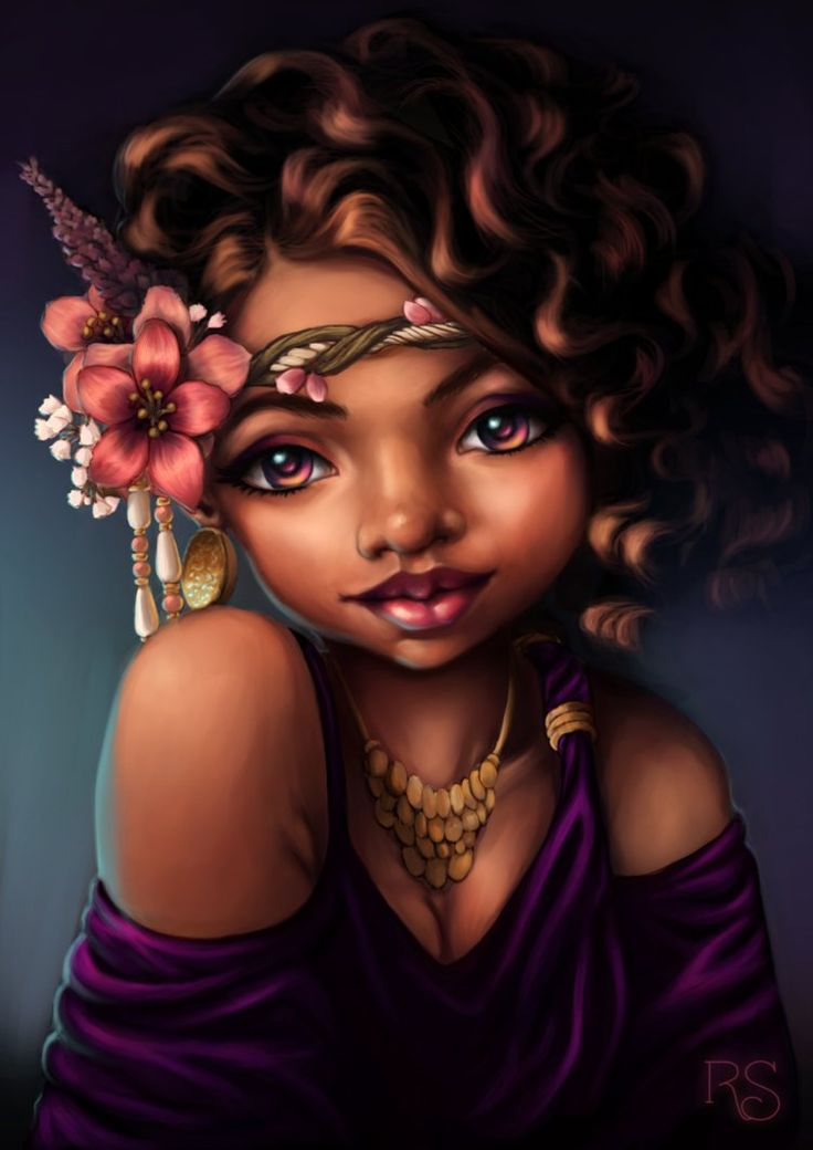 736x1040 Amazing Black Hair Art Pictures And Paintings