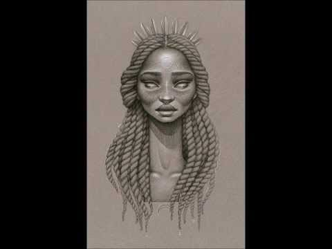 480x360 Black African Art! Woman Portrait Drawings! Natural Afro Hair