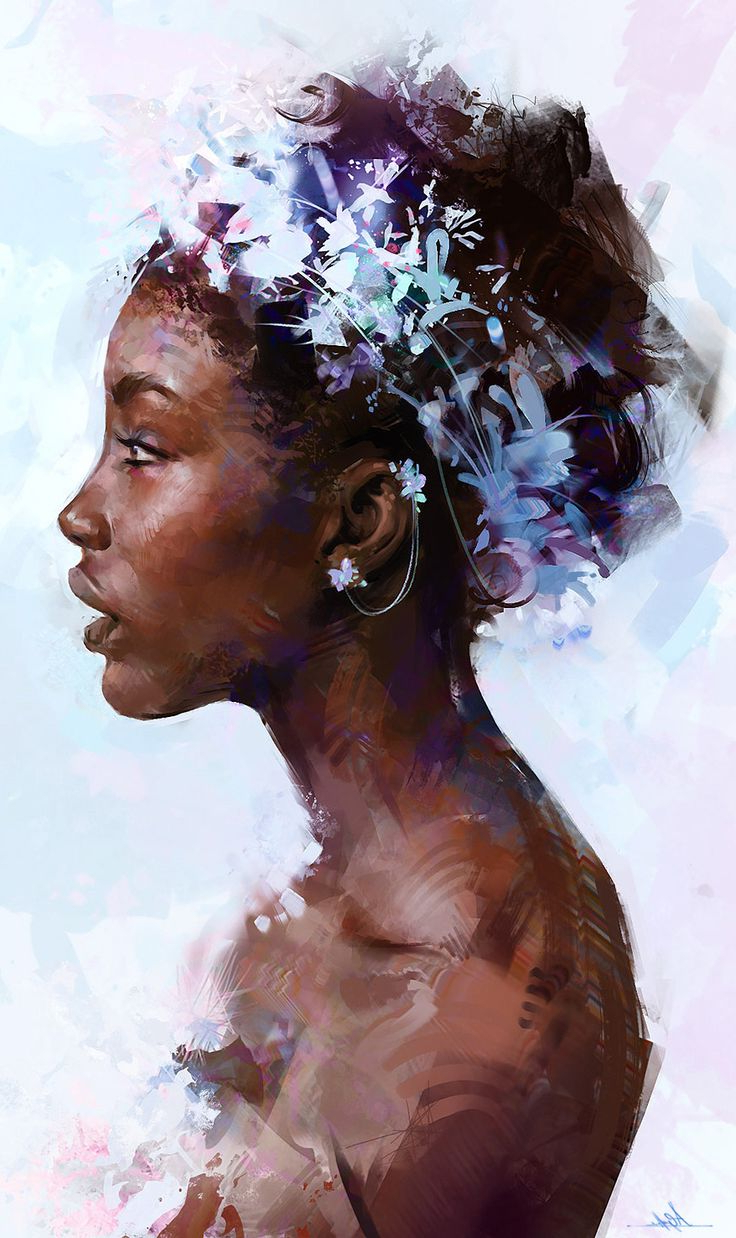 736x1238 Profile Drawing African Girl Best Face Profile Ideas