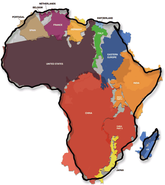 650x726 Africa Is Way Bigger Than You Wereld In School. See The Real
