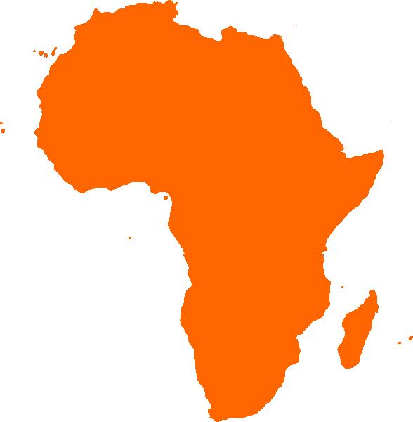 588x600 African Continent Clip Art