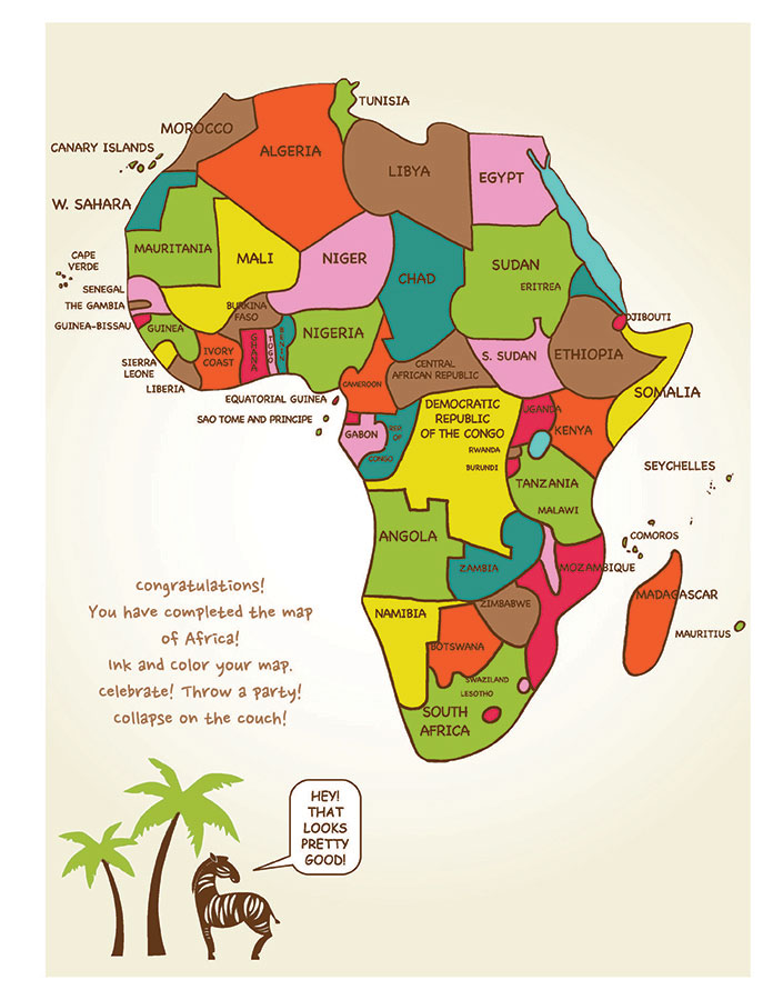 696x900 Draw Africa, An Easy Step By Step Approach Artk12