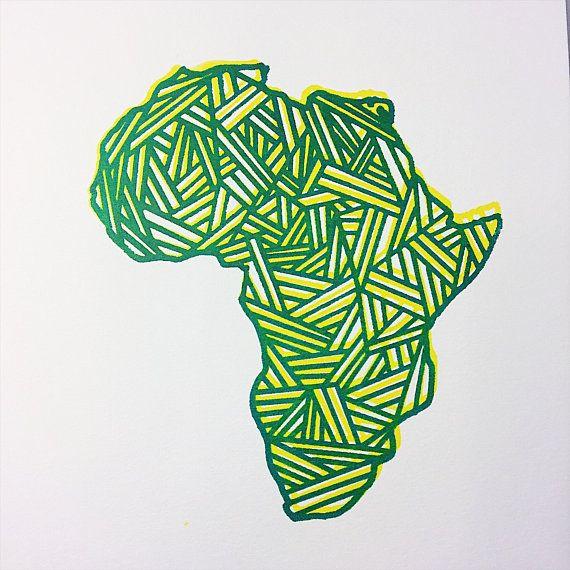 570x570 Framed African Art Africa Screenprint Wall Hanging Wall Art