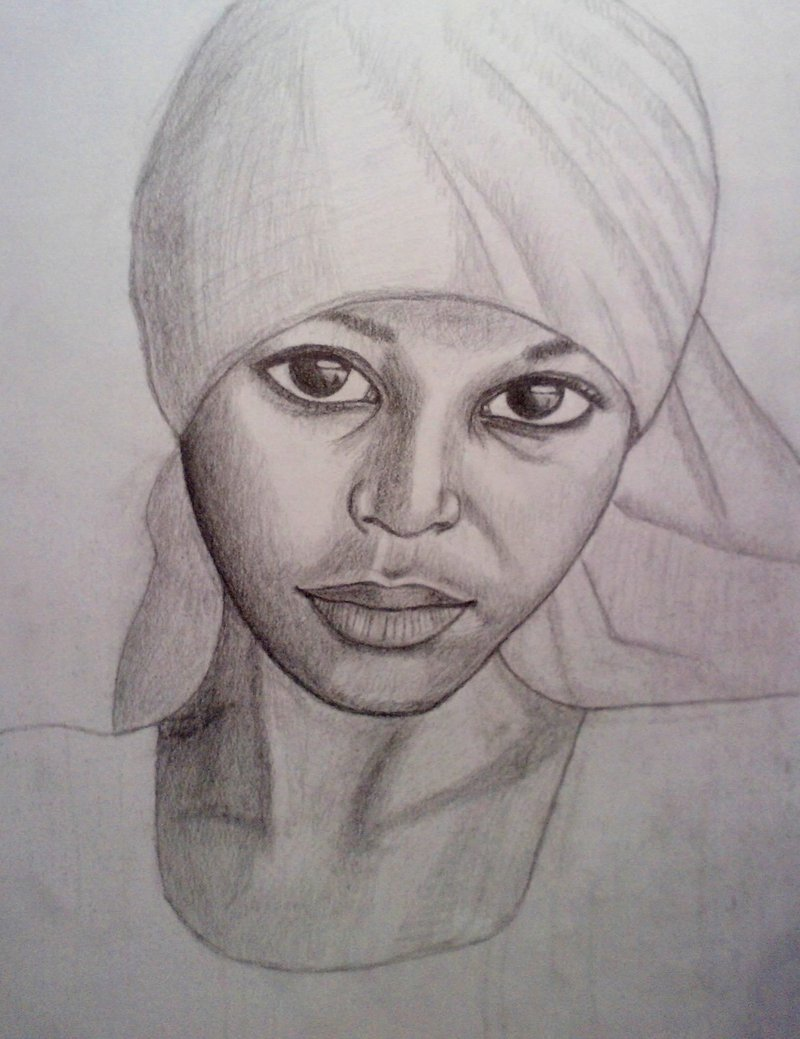 800x1039 African Girl By Extreon