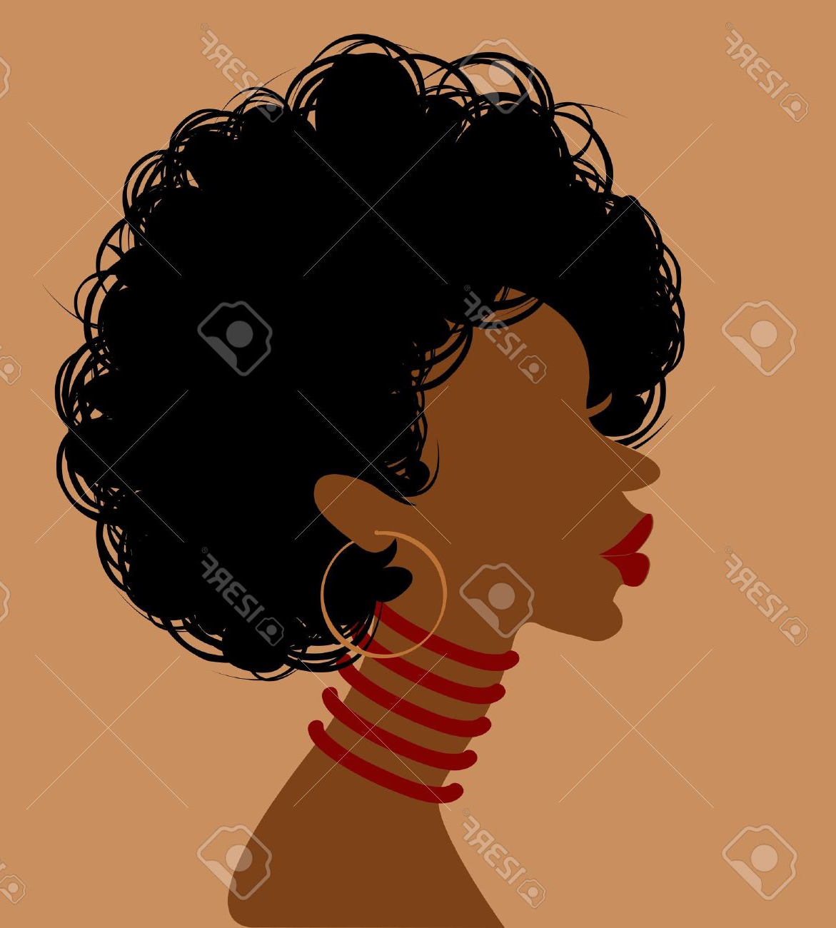 1171x1300 Profile Drawing African Girl African Woman In Profile, Vector