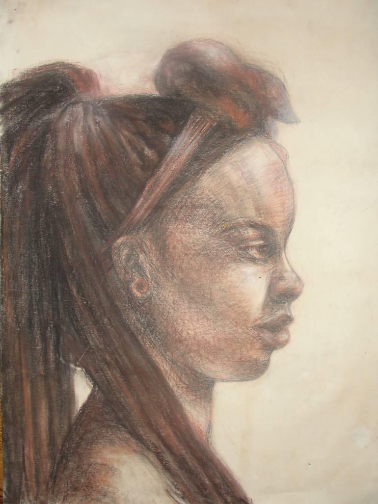 770x1027 Saatchi Art African Girl Drawing By Viliana Atanasova