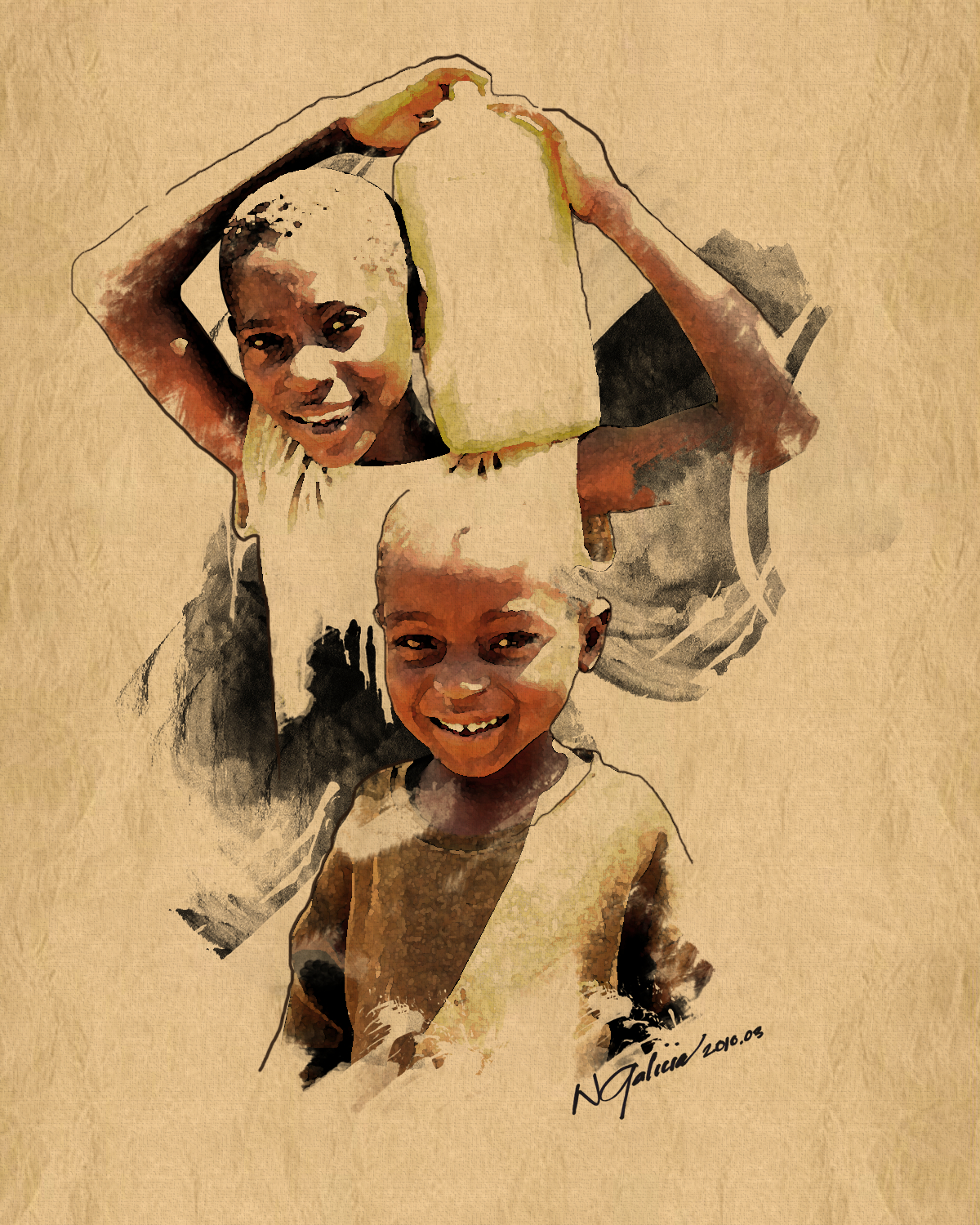 1200x1500 African Girl Drawing First Bar