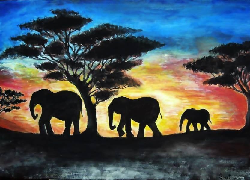 834x601 African Landscape By Gratiela Bica