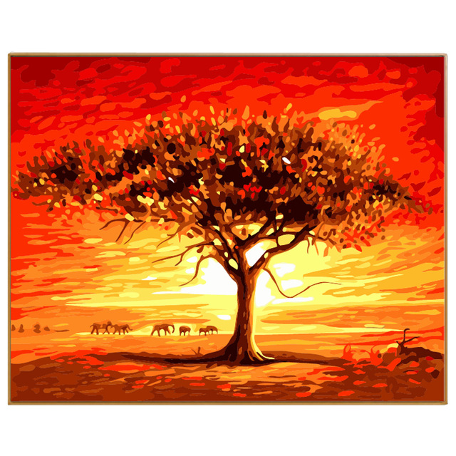 640x640 Phkv Modern Landscape Enviroment Friendly Oils Painting By Numbers