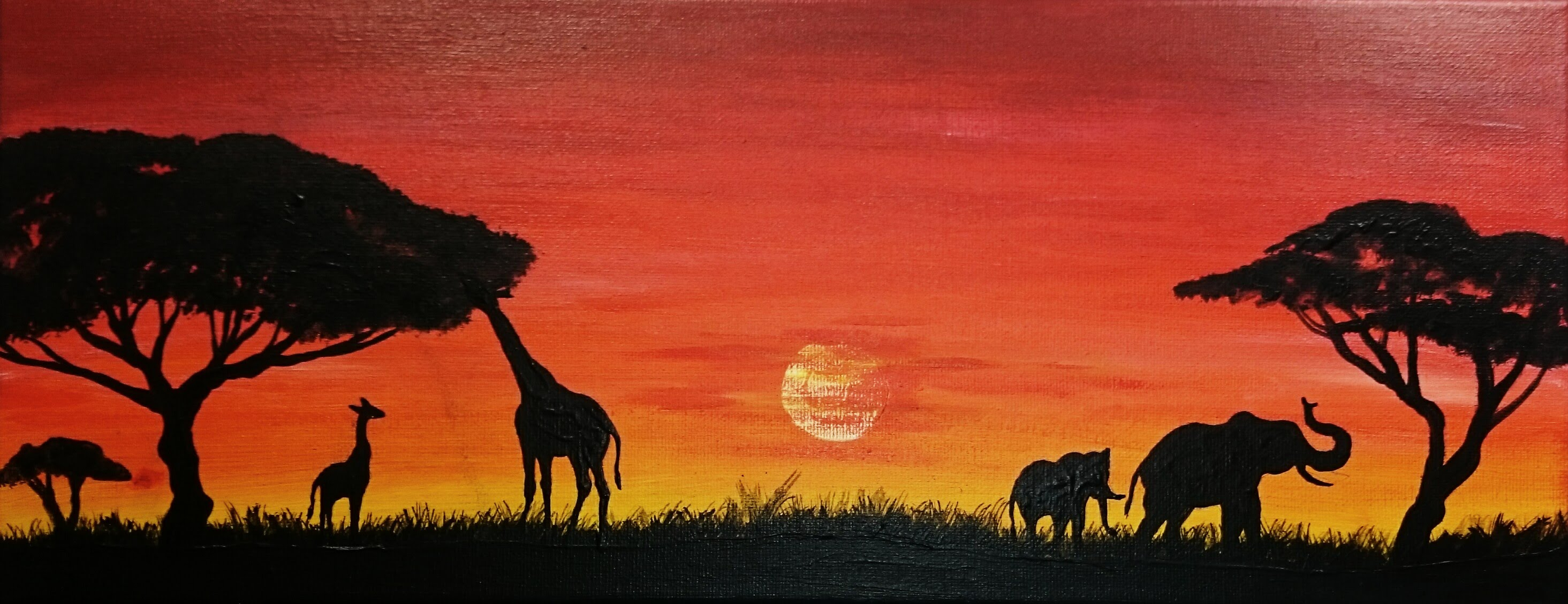 2929x1128 Savana Painting