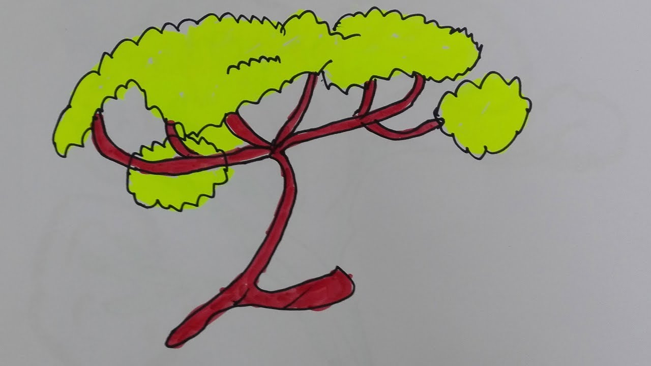 African Tree Drawing at GetDrawings.com | Free for personal use ...