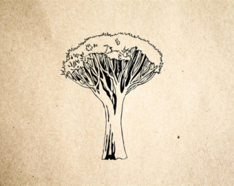 340x270 African Tree Stamp Etsy