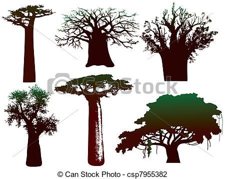 450x357 Baobab Tree Pictures Vector Illustration Various Trees