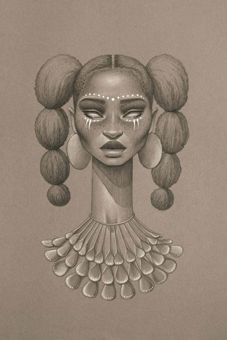 736x1104 Black Woman Drawing Best Afro Tattoo Ideas