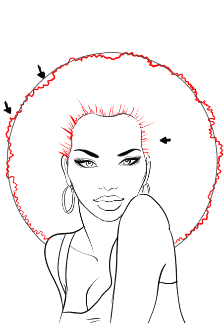 450x650 How To Draw African American Hair I Draw Fashion