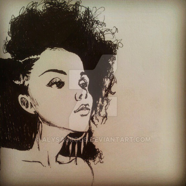 600x600 Afro Girl By Alysaurous