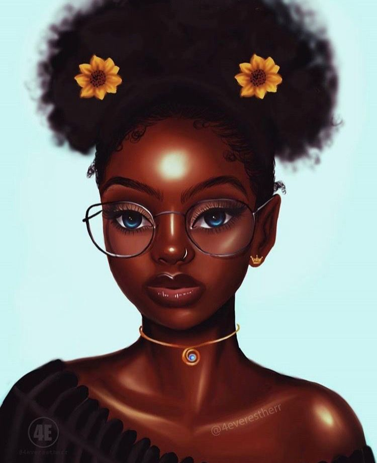 Afro Girl Drawing at GetDrawings | Free download