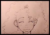 200x141 How To Draw Curly Hair And Afro Ethnic Hair Drawing Tutorials